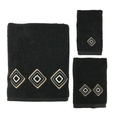 3pc Kente Towel Set Black - Allure Home Creation