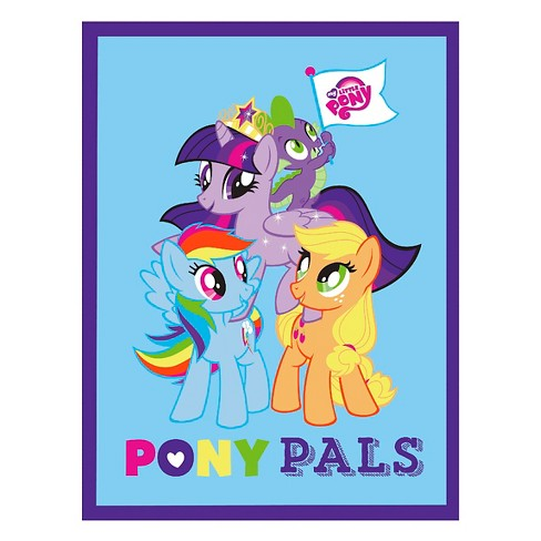 "My Little Pony Pals, No Sew Micro Fleece Throw Kit, Fuschia, 43"" Finished Width - image 1 of 1"