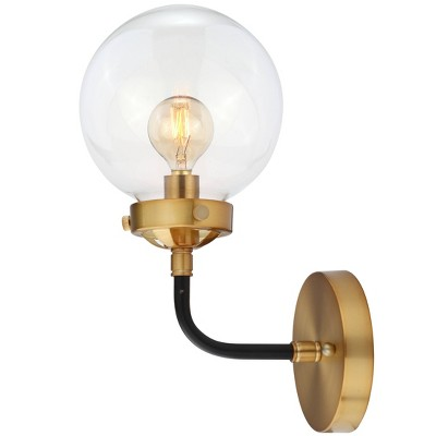 "6"" Caleb Brass Wall Sconce Black/Brass - Jonathan Y"