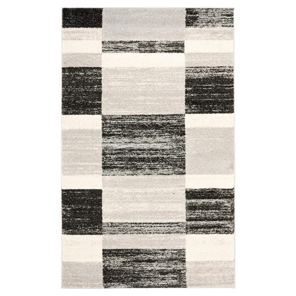 Maryl Area Rug - Black / Light Gray ( 4' X 6' ) - Safavieh