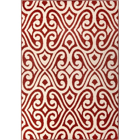 Orian Rugs Eutaw Promise Indoor/Outdoor Area Rug - Red - image 1 of 8