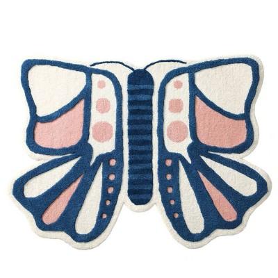4'x4' Butterfly Kids' Rug - Nico & Yeye