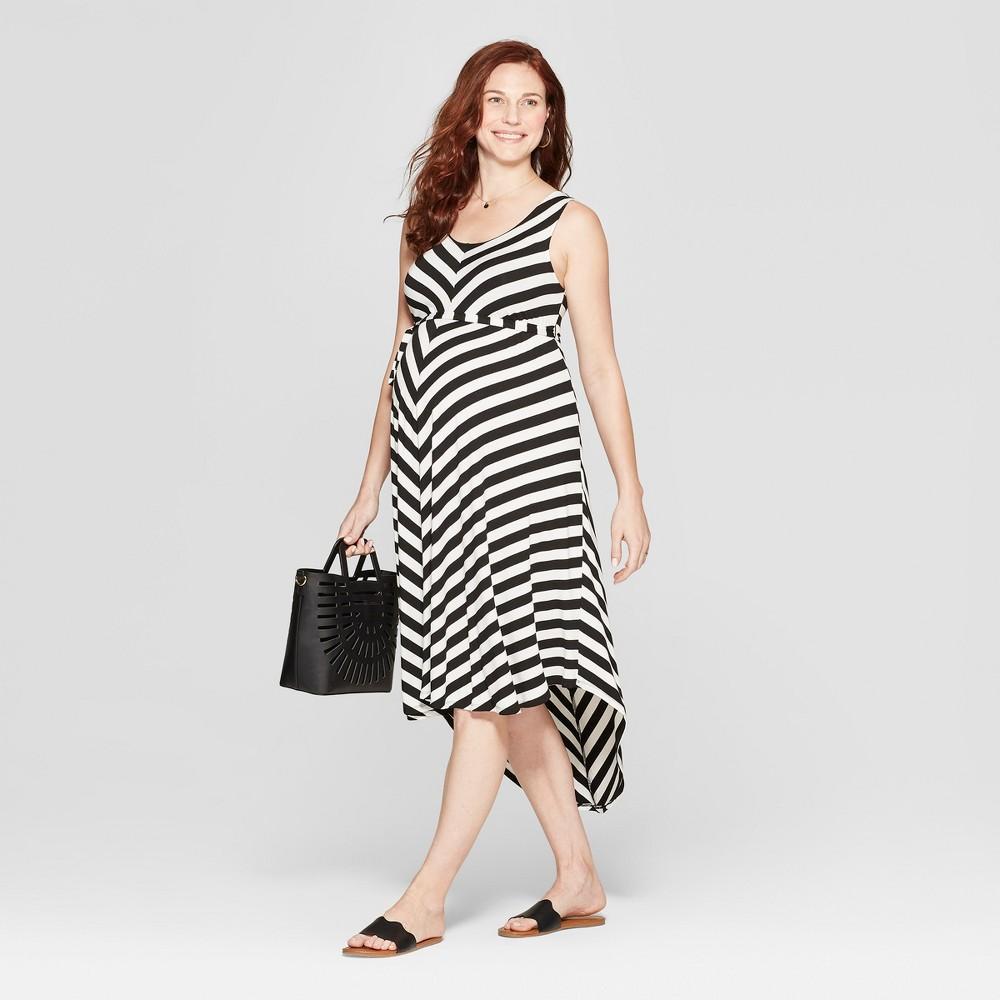 Maternity Striped Sleeveless Dress - Isabel Maternity by Ingrid & Isabel Black/Sour Cream Stripe M, Women's