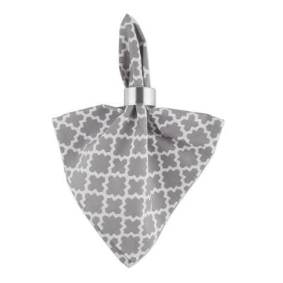 6pk Cotton Lattice Napkins Gray - Design Imports