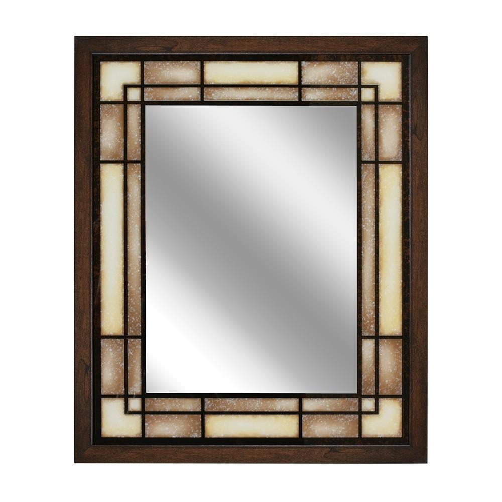 "Image of ""Head West 25"""" x 31"""" Tea Glass Rectangle Mirror"""