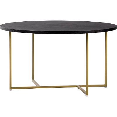 Ines Round Coffee Table French Black - Adore Decor