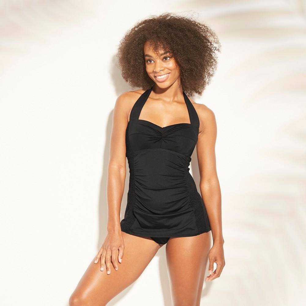 Women's Smocked Swim Dress - Kona Sol Black M