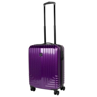 Travel Hardware 20  Hardside Spinner Carry On Suitcase - Purple