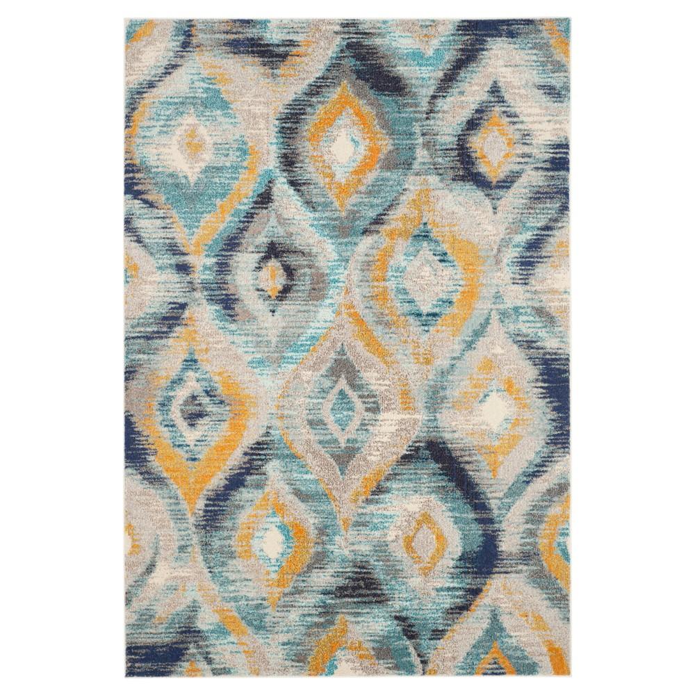 Monaco Rug - Blue/Multi - (6'7