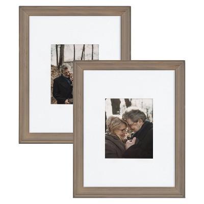 "16"" x 20"" Bordeaux Frame Box Set Rustic Brown - Kate & Laurel All Things Decor"