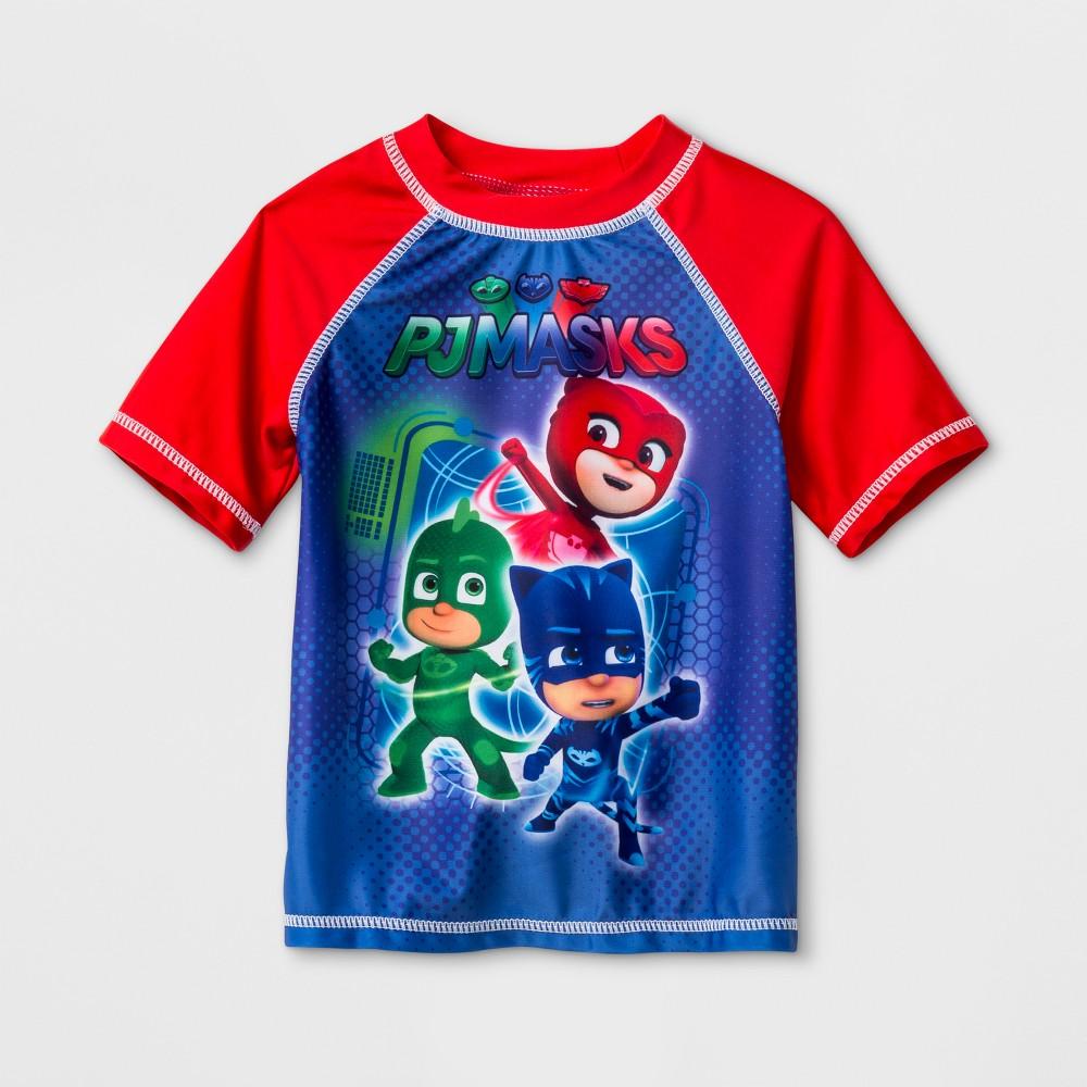 Toddler Boys PJ Masks Rash Guard - Red 2T