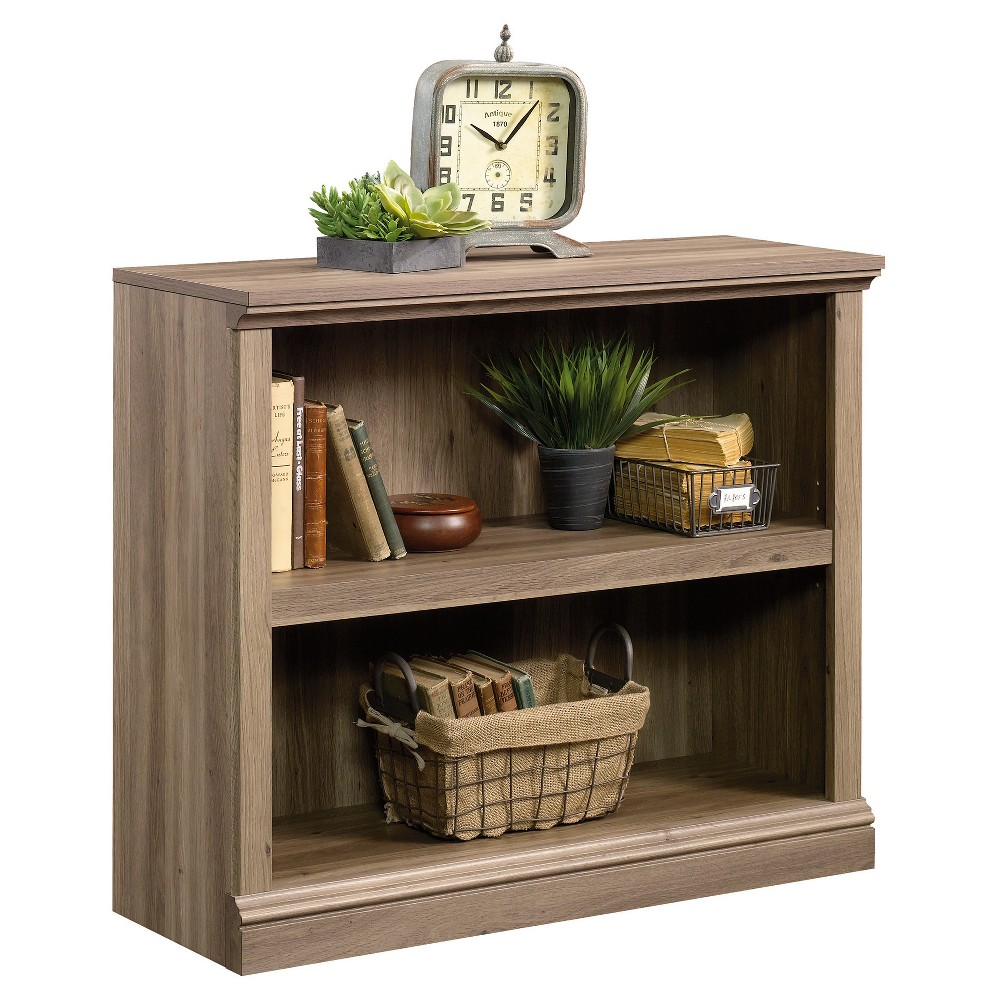 "Image of ""29.9"""" 2 Shelf Bookcase - Salt Oak - Sauder, Salt Brown"""