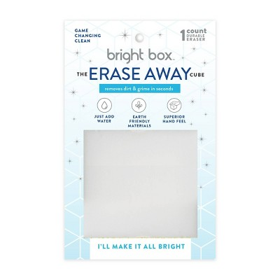 Bright Box Erase Away Cube Scrub + Wipe - White Melamine