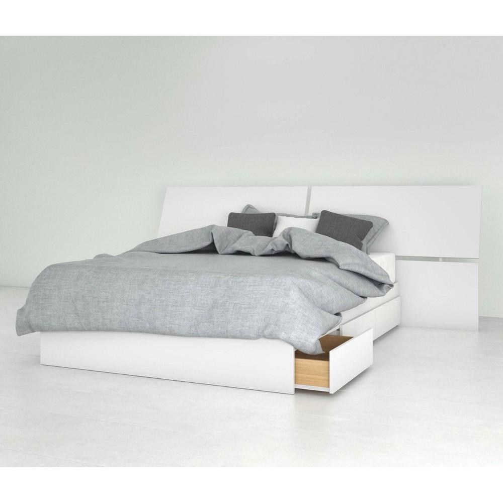 Image of 2pc Full Ogilvi Bedroom Set White - Nexera