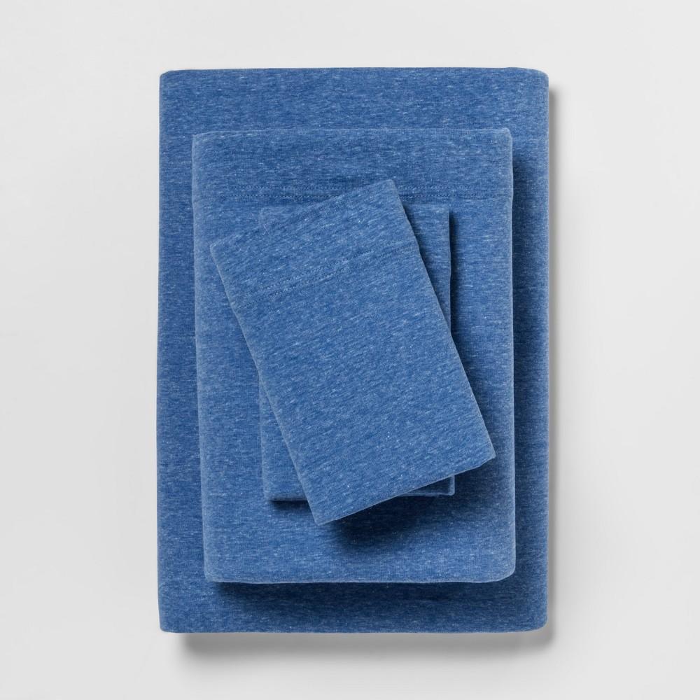 Jersey Sheet Set (Twin Extra Long) Blue - Room Essentials