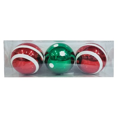 3ct Large Ornament Set Red and Green - Wondershop™