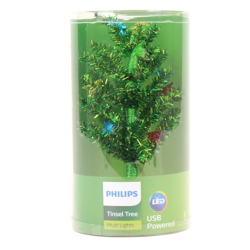 Philips 1ct Christmas LED Green Tinsel Tree Star Covers USB Multicolored :  Target - Philips 1ct Christmas LED Green Tinsel Tree Star Covers USB