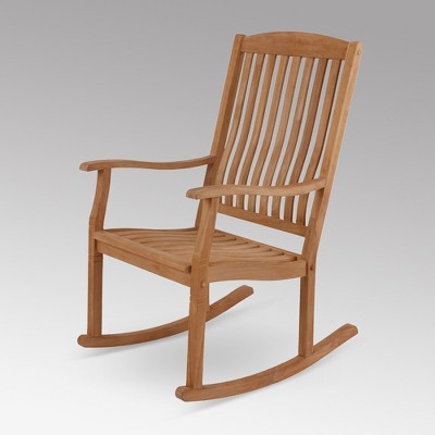 Sherwood Teak Patio Rocking Chair   Cambridge Casual