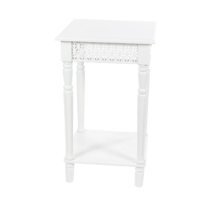 Wooden Square Side Table White - Olivia & May