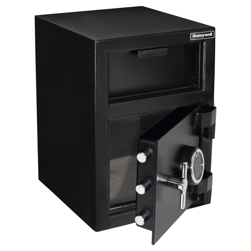Honeywell 1.06 cu ft/Steel Depository Security Safe, Black