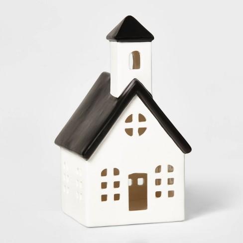 Ceramic Church Decorative Figurine White & Black - Wondershop™ - image 1 of 2