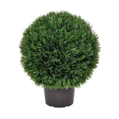 """Artificial Cedar Ball In Pot UV (20"""") - Vickerman"""