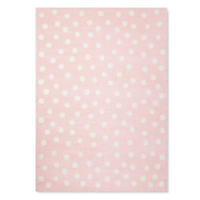 Pink Polka Dots Rug (5'x7')- Pillowfort™