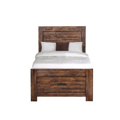 Wren Platform Storage Bed Chestnut - Picket House Furnishings