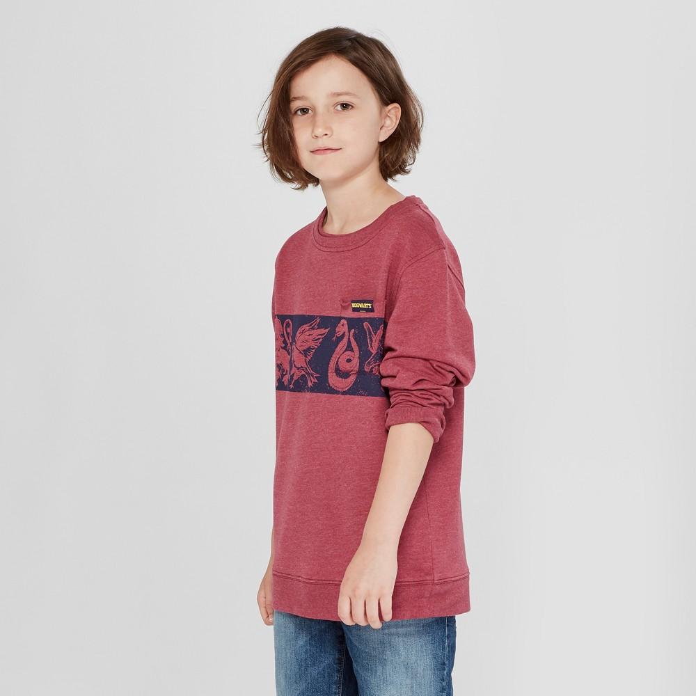 Boys' Harry Potter French Terry Sweatshirt - Burgundy Heather M, Red