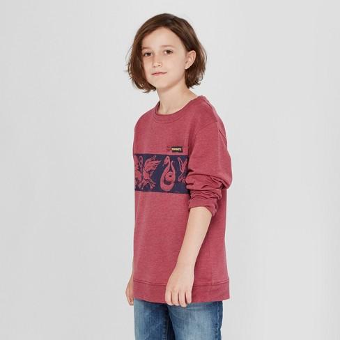 Boys' Harry Potter French Terry Sweatshirt - Burgundy Heather - image 1 of 3