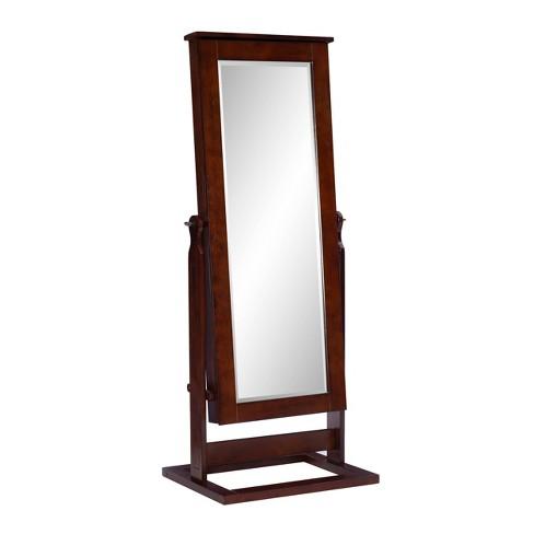 Chiara Cheval Mirror Jewelry Wardrobe, Mirror With Jewelry Storage Target