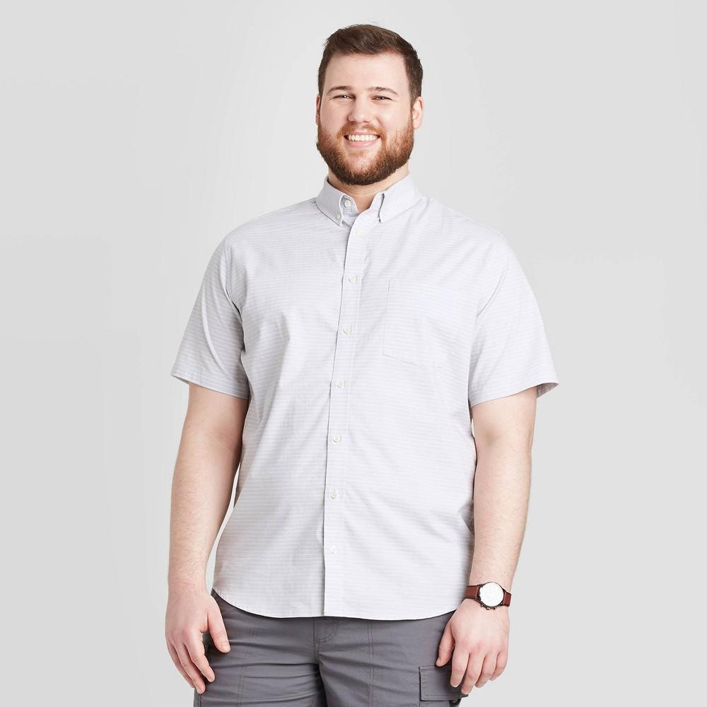 Men's Big & Tall Standard Fit Short Sleeve Button-Down Shirt - Goodfellow & Co Gray 5XBT was $19.99 now $12.0 (40.0% off)