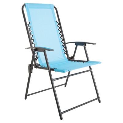 Suspension Folding Chair - Blue - Pure Garden