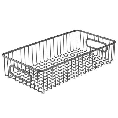 mDesign Metal Kitchen Food Pantry, Drawer Organizer Basket Tray