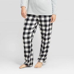 Women's Holiday Buffalo Check Fleece  Pajama Pants - Wondershop™ Black