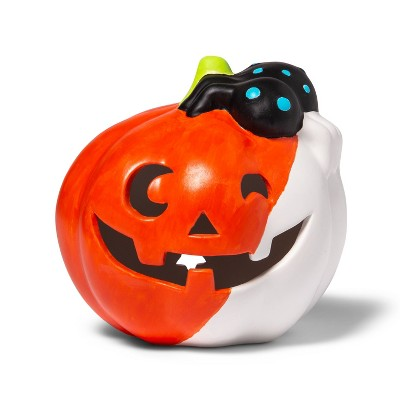Lit Ceramic Pumpkin Spider - Mondo Llama™