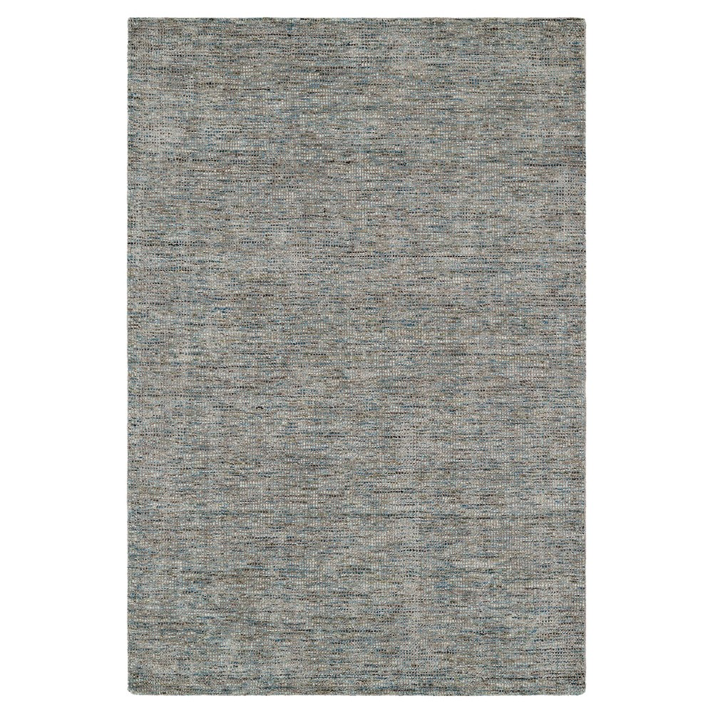 Blue Gray Solid Loomed Area Rug - (9'X13')