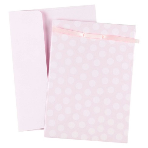 25ct Pink Baby Dots Invitations with Photo Overlay - image 1 of 2