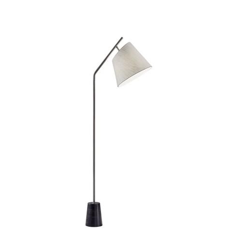Dempsey Floor Lamp Medium Silver  - Adesso - image 1 of 2