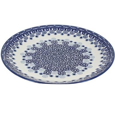 Blue Rose Polish Pottery Exton Dinner Plate
