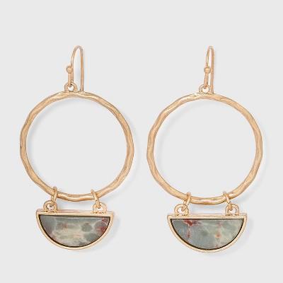 Semi-Precious Drop Earrings - Universal Thread™