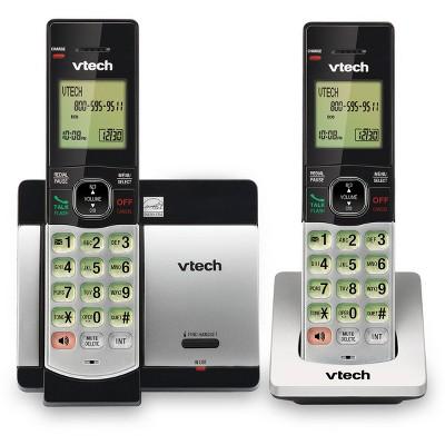 VTech DECT 6.0 Expandable Cordless Phone w/ 2 Handsets - Silver CS5119-2