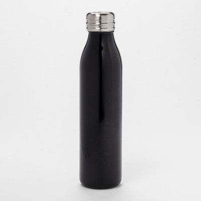 20oz Venti Air Transfer Stainless Steel Portable Water Bottle Black - Room Essentials™