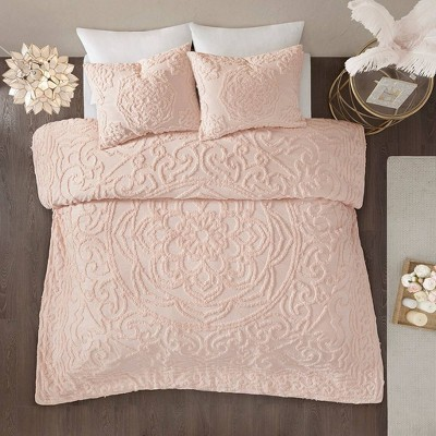 Cecily Tufted Cotton Chenille Medallion Duvet Cover Set