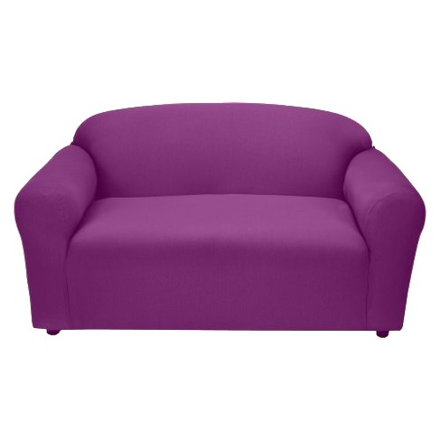 Cool Purple Jersey Loveseat Slipcover Madison Industries Lamtechconsult Wood Chair Design Ideas Lamtechconsultcom