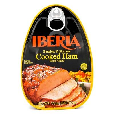 Iberia Boneless & Skinless Cooked Ham - 16oz