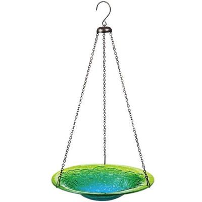 Evergreen Garden Hanging Colors Of The Sea Glass Birdbath