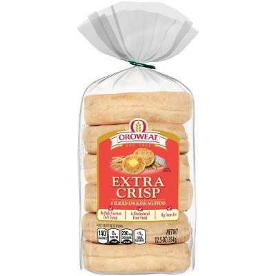 Oroweat Extra Crisp English Muffin - 12.5oz/6ct