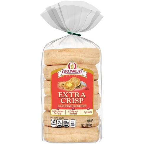 Oroweat Extra Crisp English Muffin - 12.5oz/6ct - image 1 of 4