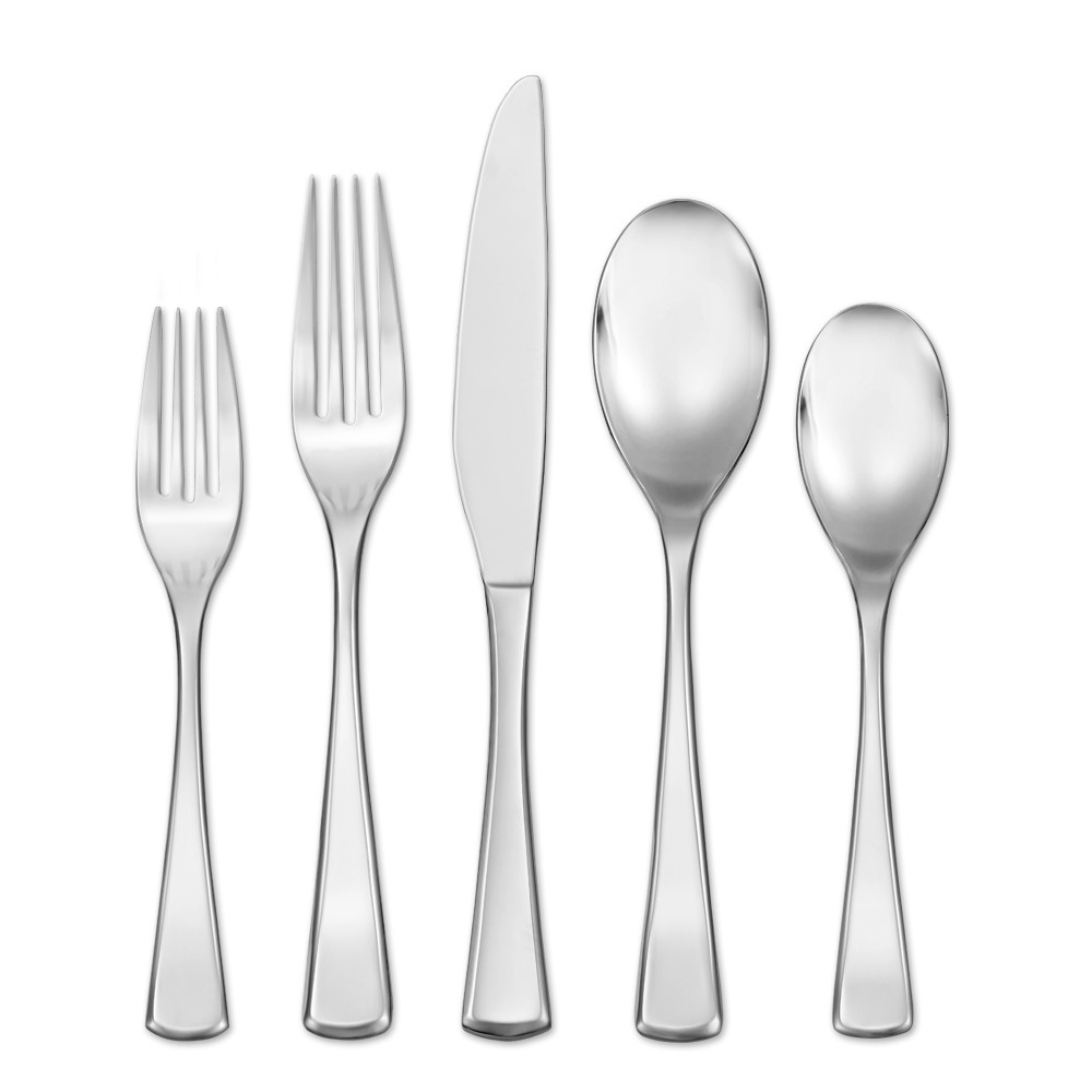 Image of Hampton Forge 20pc Stainless Steel Mulberry Silverware Set, Silver